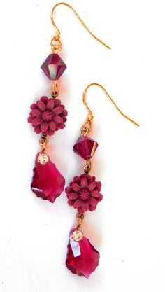 Ruby Baroque Earring Quick & easy