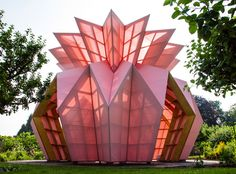 An Origami Pineapple Pavilion Opens Inside Berrington Hall's 18th-Century Garden