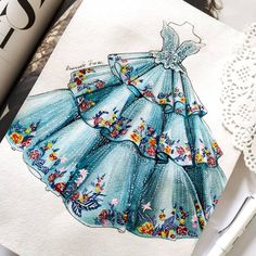 Dress Design Drawing, Dress Design Sketches, Fashion Design Sketchbook, Fashion Sketches, Fashion Drawing Dresses, Fashion Illustration Dresses, Fashion Illustrations, Pencil Sketches Of Girls, Wedding Dress Sketches