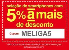 Cupom de 5% de Desconto em Smartphones na Americanas