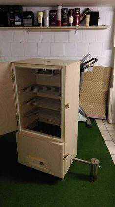 Incense cabinet homemade - Thanks to the forum Bbq, Smoke Grill, Smokehouse, Kitchen Cart, Grilling, Woodworking, Homemade Incense, Diy Sauna, Fireplace Ideas
