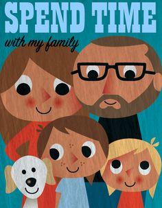 family - ingela P Arrhenius Family Illustration, Cute Illustration, Cartoon Illustrations, Banner Design Inspiration, We Are The World, Painting For Kids, Design Art, Character Design, Poster Prints