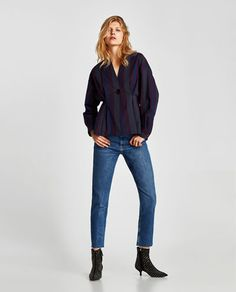 THE VINTAGE HIGH WAIST JEANS IN PACIFIC BLUE-Skinny-JEANS-WOMAN | ZARA United States