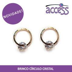 novidade, access, brincos, cristais, circulos, argolas, earrings, shine