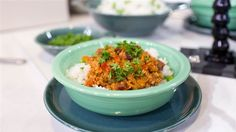 No beans about it! Warm up with this hearty slow-cooker turkey chili, served in Fiesta® dinnerware   | Today Show