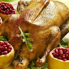 Photo about Christmas roast goose with apples stuffed with cranberries. Image of delicious, cranberries, delicacy - 17123015 Traeger Recipes, Grilling Recipes, Cooking Recipes, Christmas Roast Goose, Roast Goose Recipes, Wild Game Recipes, Roast Duck, Victorian Christmas, English Christmas