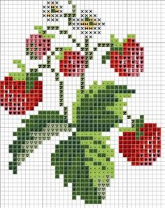 Cross Stitch Fruit, Small Cross Stitch, Cross Stitch Heart, Cross Stitch Cards, Beaded Cross Stitch, Cross Stitch Flowers, Cross Stitching, Cross Stitch Embroidery, Modern Cross Stitch Patterns