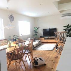 yoko1978さんの、柏木工,無垢材,パイン材の床,シンプルな暮らし,こどもと暮らす。,ダイニング,キリムラグ,部屋全体,のお部屋写真