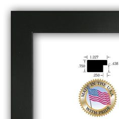 Art to Frames 2WOMFRBW2607924x24 24 by 24Inch Picture Frame 125Inch Wide Satin Black >>> Click on the image for additional details.