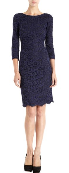 Oh, my! Imagine this with a sparkly diamond pin. L'Wren Scott Lace Flower Dress