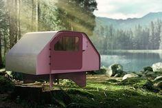 """Ein mobiles Zuhause ist praktisch, aber selten wetterfest und meist alles andere als komfortabel. """"Shelter"""" von der Möbel- und Produkt-Design-Werkstatt Duffy London zeigt, dass es auch anders geht. Die mobile Unterkunft in Modulbauweise ist nicht nur in un"""