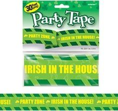Irish in the House! St Patrick's Day Party Tape by Amscan, http://www.amazon.co.uk/gp/product/B003CSV4C0/ref=cm_sw_r_pi_alp_rt2hrb1NXF9ZZ