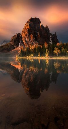 Sunburst Peak and Lake in the Canadian Rockies of British Columbia, Canada • photo: Kevin McNeal on 500px