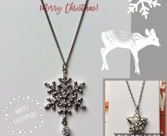 Cross, Snowflake or Star Crystal Pendant Necklace, Handmade In USA, Winter Celestial Religions Necklaces Graduation Mother's Day Gifts Handmade Necklaces, Handcrafted Jewelry, Star Necklace, Pendant Necklace, Christmas Gifts For Her, Copper Jewelry, Gifts For Wife, Crystal Pendant
