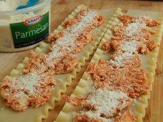 Chicken parmesan lasagna rolls – Drizzle Me Skinny!