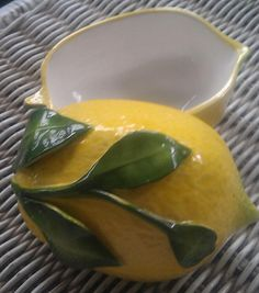Cute VIntage Ceramic Lemon Container by EnchantingArtistry on Etsy, $7.95