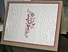 Replace the stamping with a stocking or Christmas ornament cut from glitter paper.