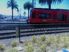 Trolley Car in downtown San Diego