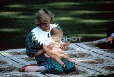 April 23, 1983: Princess Diana with nine-month Prince William on his first photo call held on the lawn of the Government House in Auckland, New Zealand.