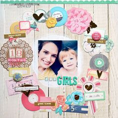 scrapbook page featuring March 2014 Best of Both Worlds kit by Paige Evans @ shimelle.com