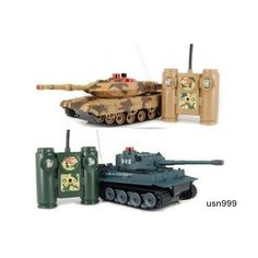 Remote Control Battle Tanks RC Radio Infrared Set of 2 Full Size Toys NEW!