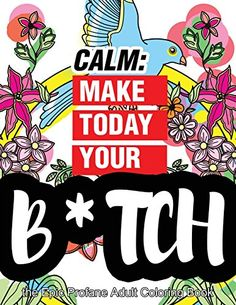 Calm Make Today Your Bitch The Epic Profane Adult Coloring Book Swear Word Finds