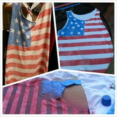 DIY fourth of july tank top! Easy!