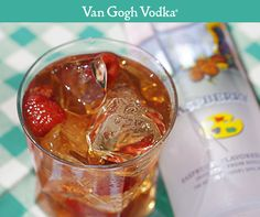 Soak up the sun with a Raspberry Ice Pick summer cocktail. Ingredients: 2 oz. Van Gogh Raspberry Vodka, 1½ oz. sweet iced tea and ½ oz. fresh lemon juice. Pour ingredients into a cocktail shaker over ice. Shake well and strain into a rocks glass. Garnish with floating raspberries.