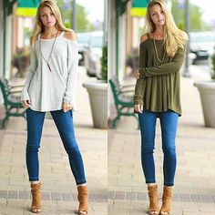 Cold Shoulder Sweater Weather from Cousin Couture.
