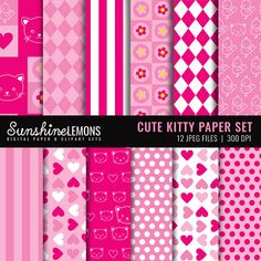 INSTANT DOWNLOAD!!! This listing is for the digital file of the Cute Kitty Digital Paper Pack -------------------------------------------------------------------------------------------- FILE INCLUDES -------------------------------------------------------------------------------------------- 12 digital papers JPEG format 12 x 12 inches High resolution - 300dpi ► BUY 2 GET 1 FREE (your free item must be the same value as your purchased item or less). Please do not purchase the free file…