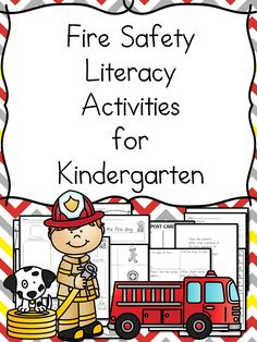 These Kindergarten Fire Safety Literacy Worksheets will help make learning about fire safety fun!