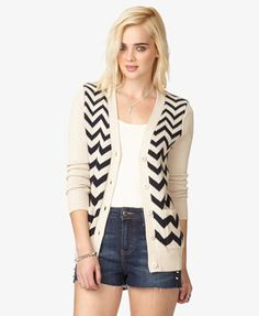 Chevron Knit Cardigan $22.80 (Forever 21)