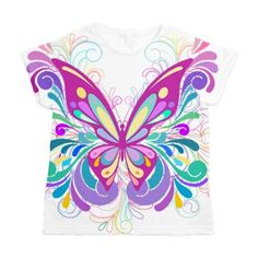 Decorative Butterfly Women's All Over Print T-Shirt    A beautiful Decorative butterfly  $43.69
