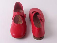 Eli ballerina 1018 retro rood (maat 28-41) // HIPPE EN DUURZAME SCHOENTJES, SLOFJES en TASJES van maat 16 tem 41