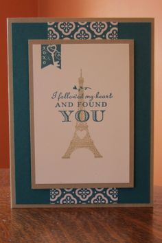 Stampin Up Follow My Heart in Island Indigo and Crumb Cake