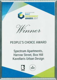 SPECTRUM WINS-2017 BUILT ENVIRONMENT AWARD - http://kud.com.au/spectrum-wins-2017-built-environment-award/