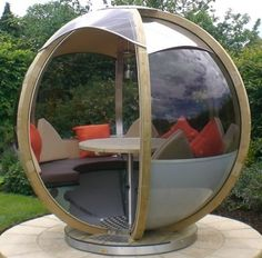 for real?! Rotating Garden Sphere Seater