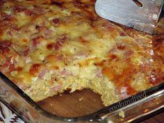Σουφλέ Με Καπνιστό Χοιρινό Και Τυριά Ham And Cheese, Macaroni And Cheese, Lasagna, Cooking, Ethnic Recipes, Easy, Food, Kitchen, Mac And Cheese