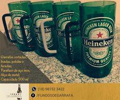 Canecas de garrafas Heineken. 500ml