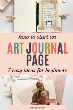 Art journal page ideas for beginners. An art journal page. Art journaling for be. - Art journal page ideas for beginners. An art journal page. Art journaling for beginners. Art Journal Prompts, Doodle Art Journals, Journal Themes, Art Journal Techniques, Bullet Journal Ideas Pages, Art Journal Pages, Art Journaling, Art Journal Backgrounds, Art Therapy Projects