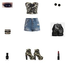 """Contest: Black & Camouflage Outfit"" by billsacred ❤ liked on Polyvore"