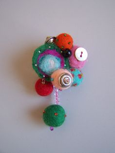 Ooak abstract felt brooch spring colors art gift by ArteAnRy, Felt Brooch, Felt Animals, Spring Colors, Felt Crafts, Needle Felting, Brooches, Crafty, Christmas Ornaments, Abstract