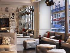 By Rockwell Group-In part of a massively cool expansion initiative, the W Hotels has opened it's super chic new Paris property