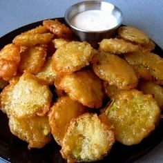 Fried Dill Pickle Chips - Need to make these soon for the pickle buddies lol!!!!