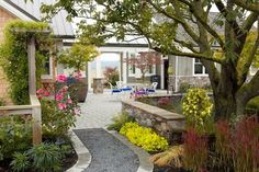 Path to outdoor dining terrace. - eclectic - landscape - seattle - Dan Nelson A.I.A. Designs Northwest Architects