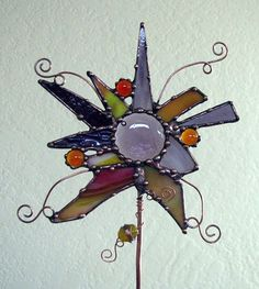 stained glass garden stakes patterns   visit etsy com