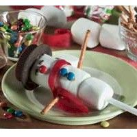 Snowman on a Stick Craft. I am going to make these for my grandsons December Birthday party!