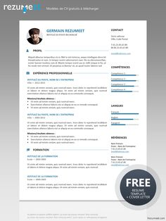 Gastown2 - Modèle gratuit de CV à télécharger