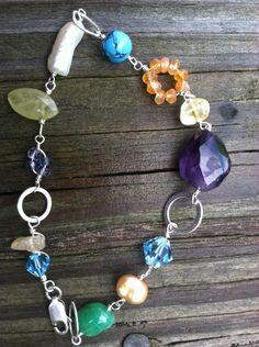 Confetti Gemstone Bracelet by NikkiMac on Etsy, $39.00