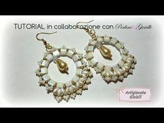 DIY Tutorial orecchini con tila - Puro Amore - Collab. Perline & Gioielli - YouTube